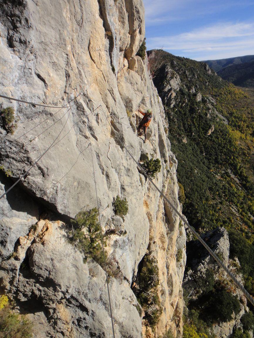 vías ferratas en los pirineos