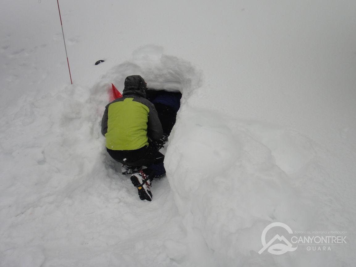 Vivac en nieve