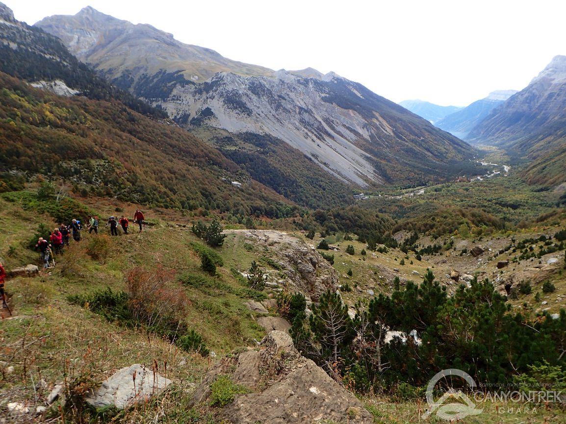 Mirada hacia el valle de Pineta